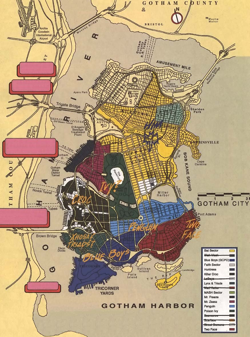 Gotham City Map Gotham City in May 1999