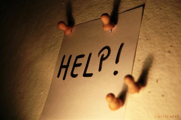 a help sign