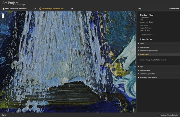 The Starry Night  Vincent van Gogh  MoMA The Museum of Modern Art  Art Project powered by Google