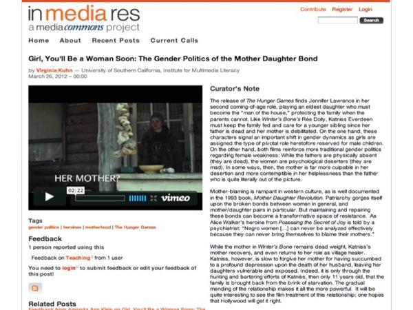 Screenshot of article in In Media Res