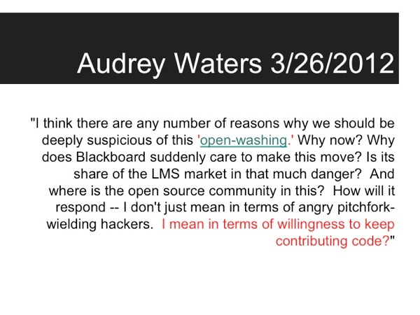 Quotation from Audrey Waters: I think there are any number of reasons why we should be deeply suspicious...