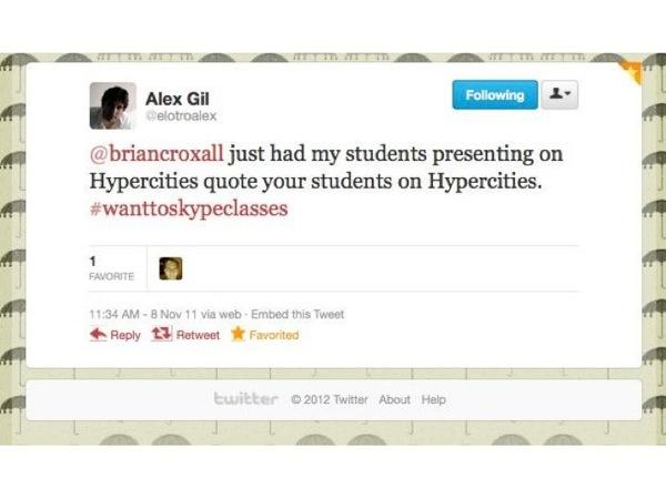 Screenshot of a tweet from Alex Gil