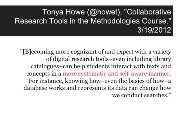 Quotation from Tonya Howe