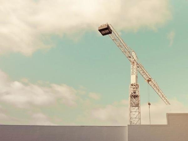 Photograph of a construction crane