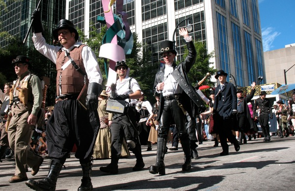 Steampunks at the 2010 Dragon*Con parade