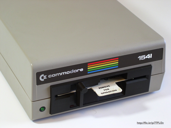 A Commodore 1541 floppy disk drive