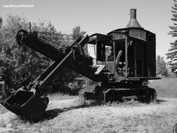 An old steam shovel
