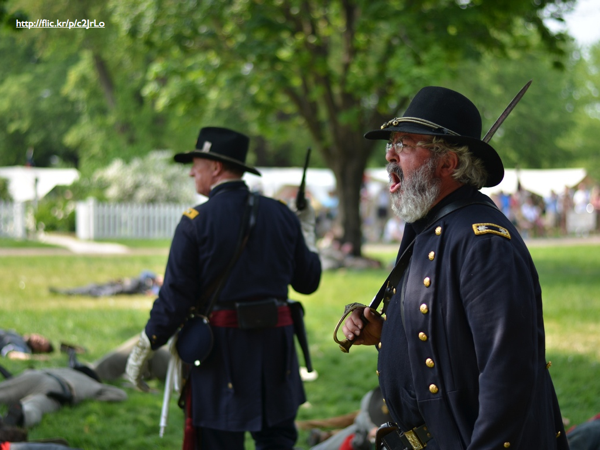 A Civil War reenactment
