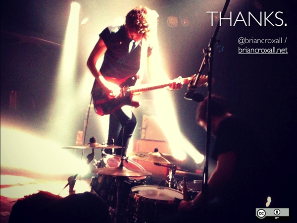 An image of the band Japandroids, with the caption 'Thanks.'