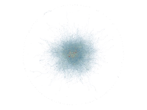 A network visualization of all MLA speakers from 2004-2014