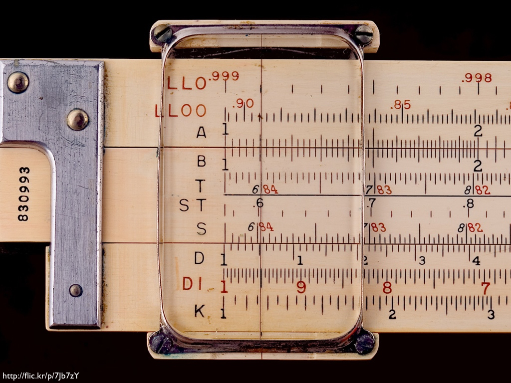 An old slide rule.