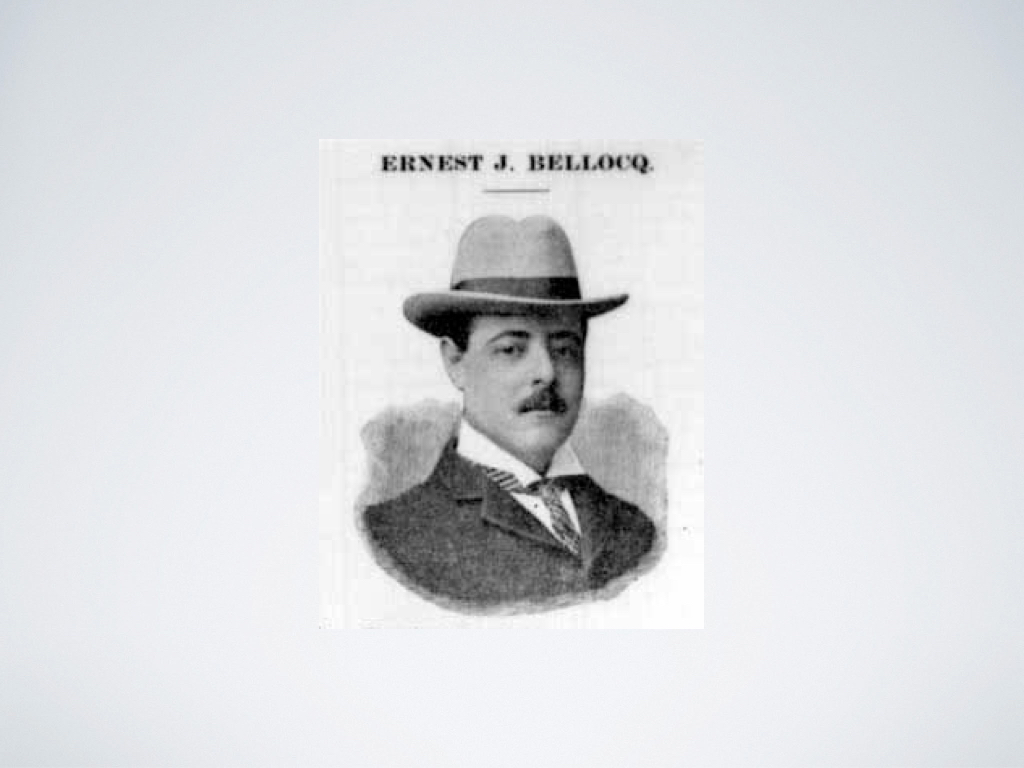 An image of early photographer Ernest J. Bellocq.