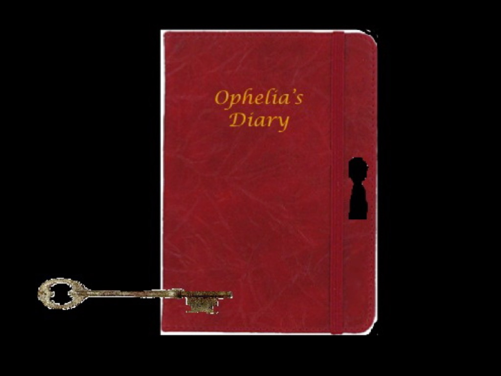 An image of Ophelia's diary from a student-designed app.